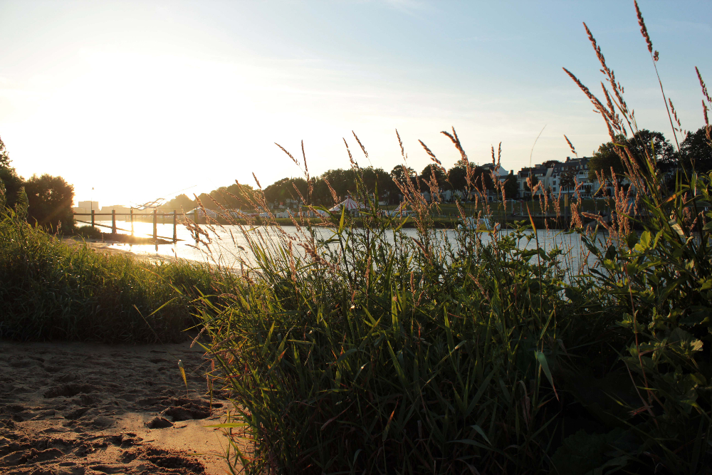 Sonnenuntergang an der Weser