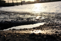 Wasser im Sonnenuntergang