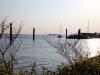 Bucht an der Elbe in Hamburg