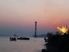 Osterfeuer an der Elbe