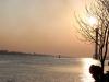 Sonnenuntergang am Elbstand