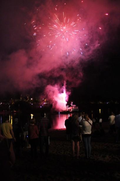 Feuerwerk am Café Sand
