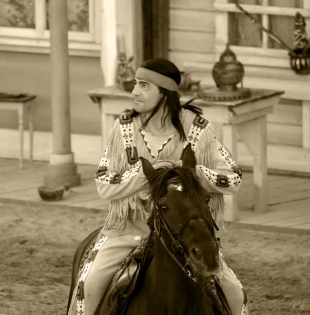 Winnetou auf seinem Pferd