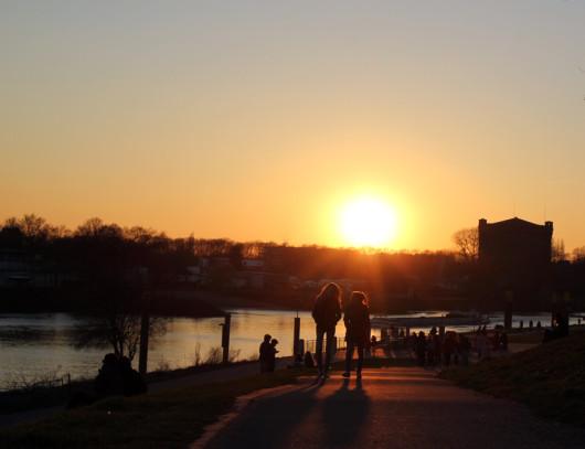 Sonnenuntergang Weser