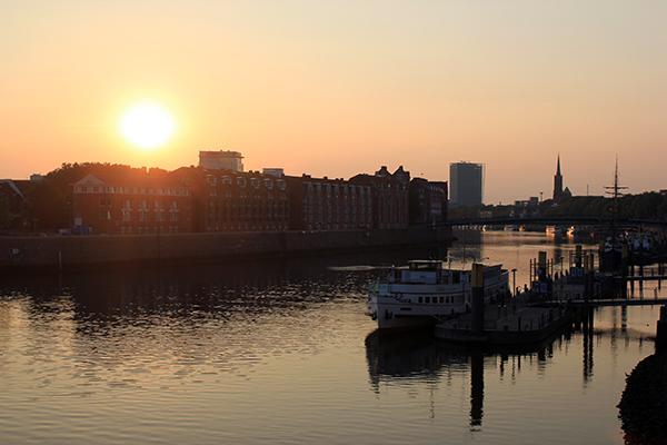 Bremen_Schlachte_Sonnenuntergang