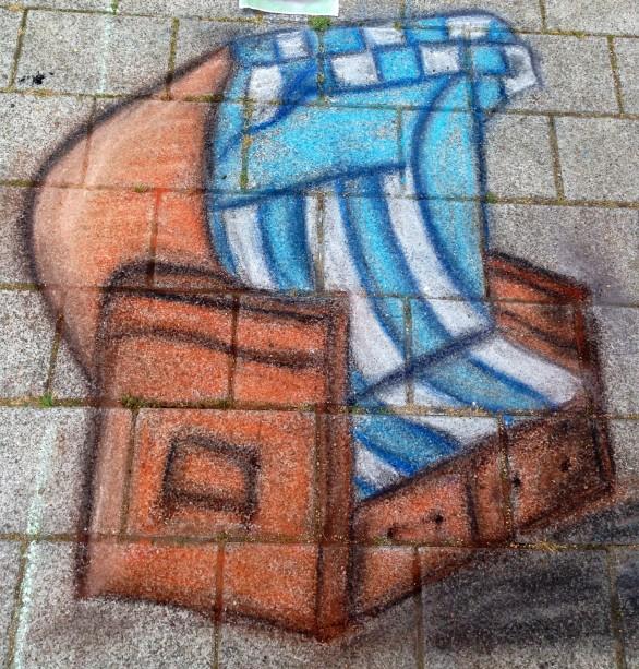 Street Art Strandkorb