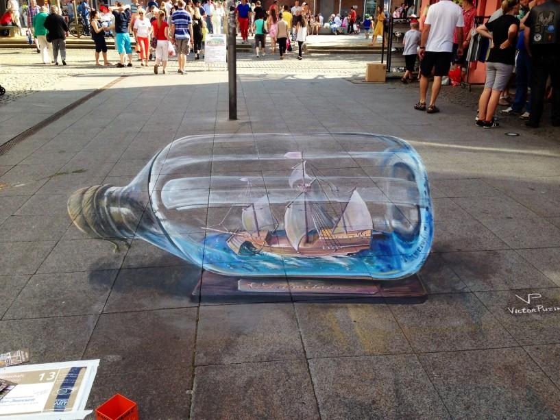 Street Art Flasche