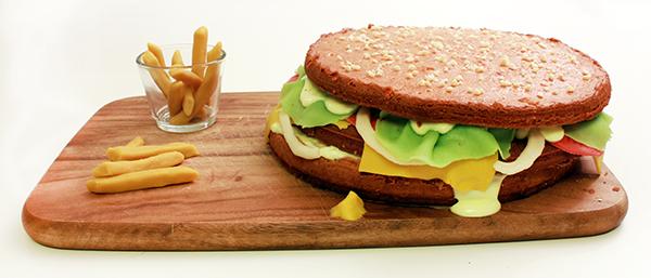 Burger aus kuchen