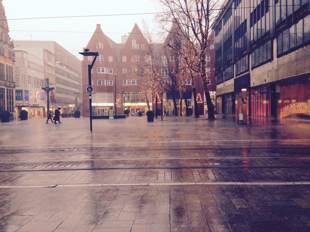 Dauerregen Bremen Innenstadt