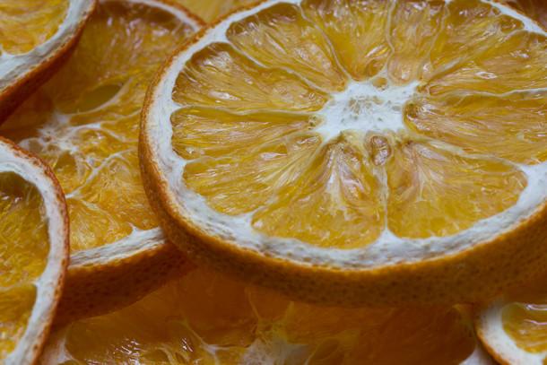 Orangenscheibe getrocknet