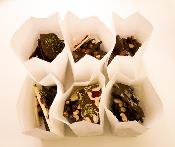 Schokolade in Tüten