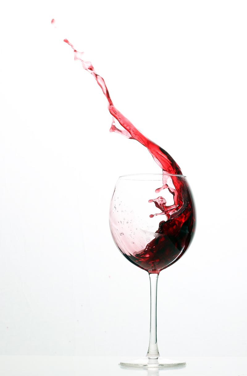 Weinglas Splash