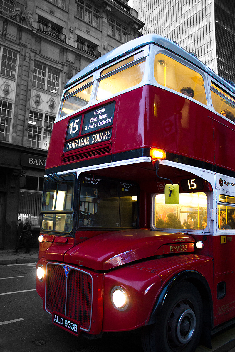 London roter Doppeldecker Bus
