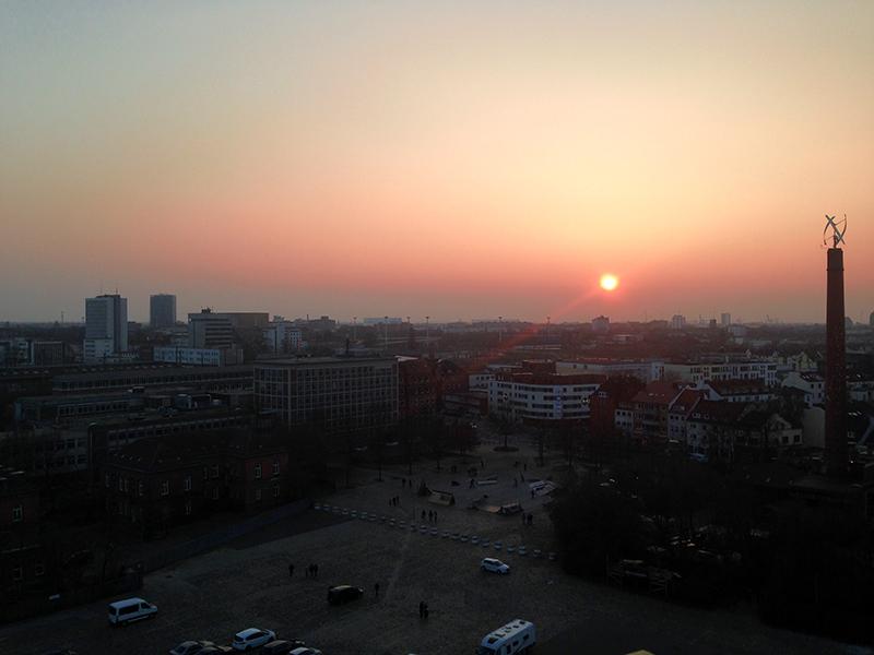 Sonnenuntergang über Bremen