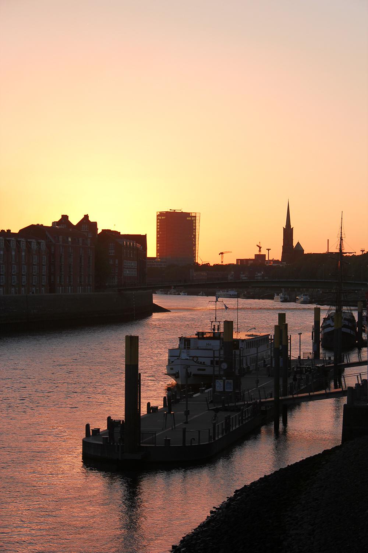 Abendsonne Wilhelm-Kaisen-Brücke