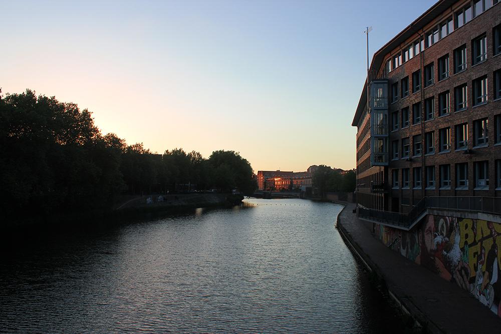 Kleine Weser Abendhimmel