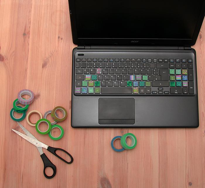 bunte tastatury diy