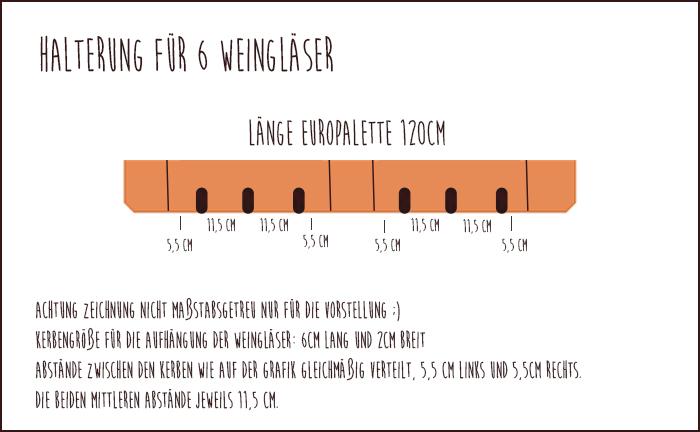 Weinregal Europalette