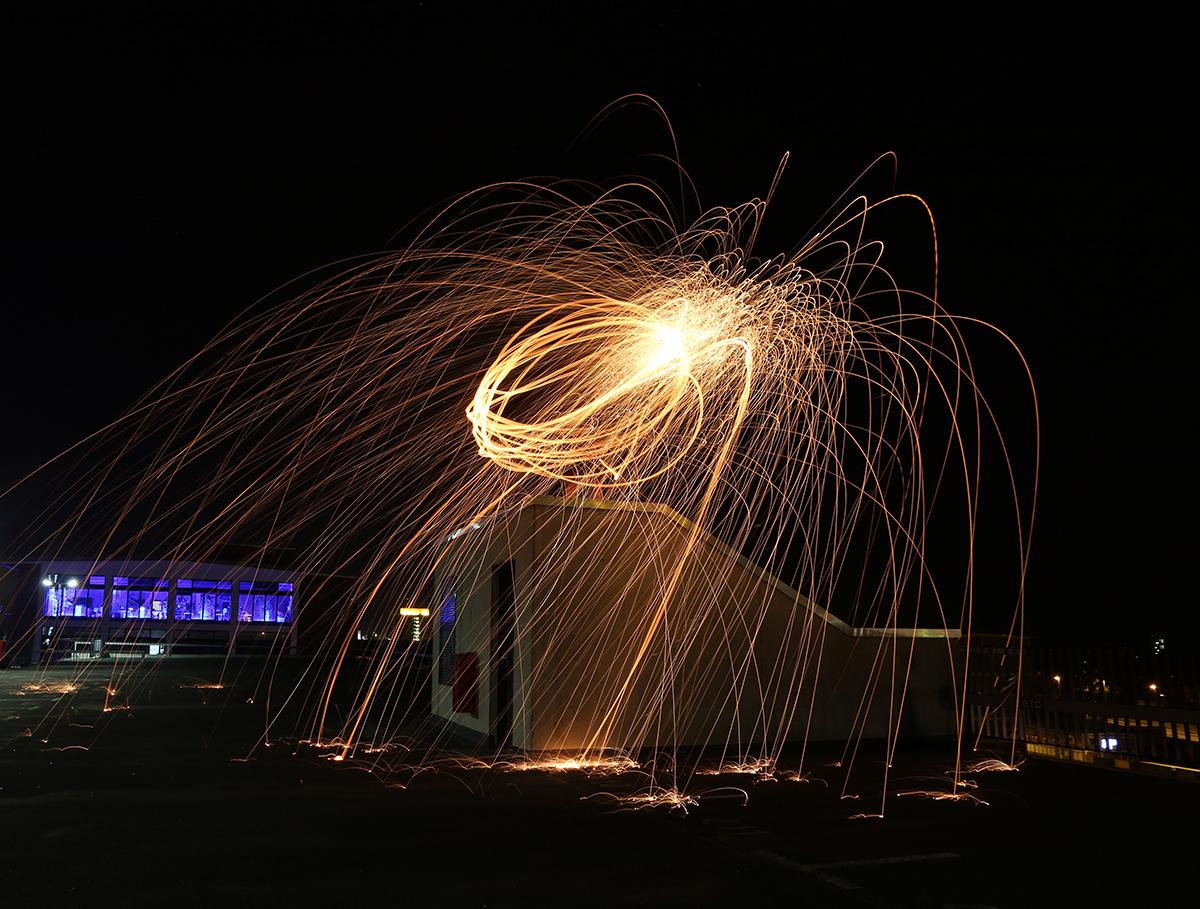 Stahlwolle Lichteffekt