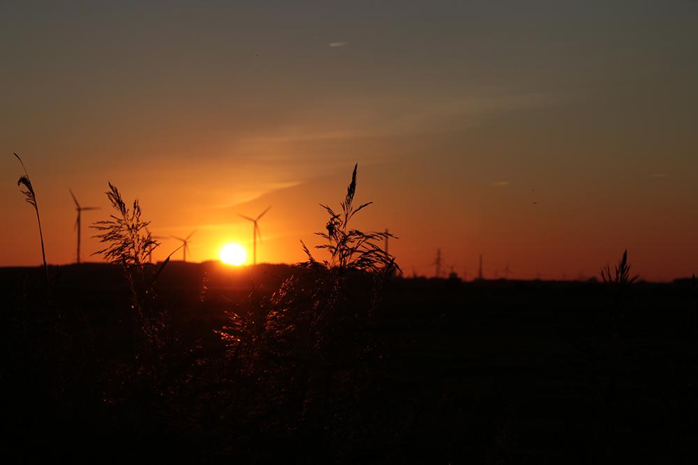 Sonnenuntergang Blockland