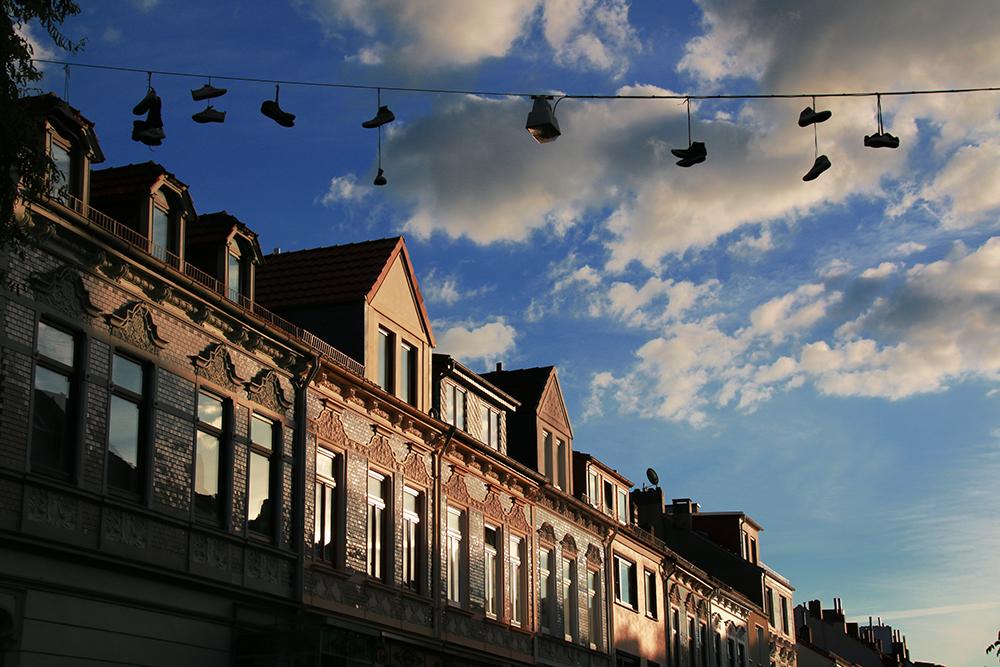Schuhe an der Leine