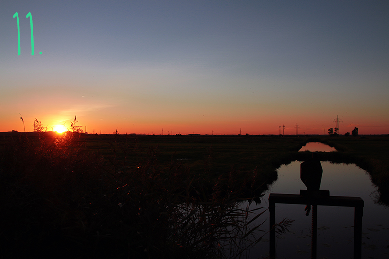 Blockland Sonnenuntergang