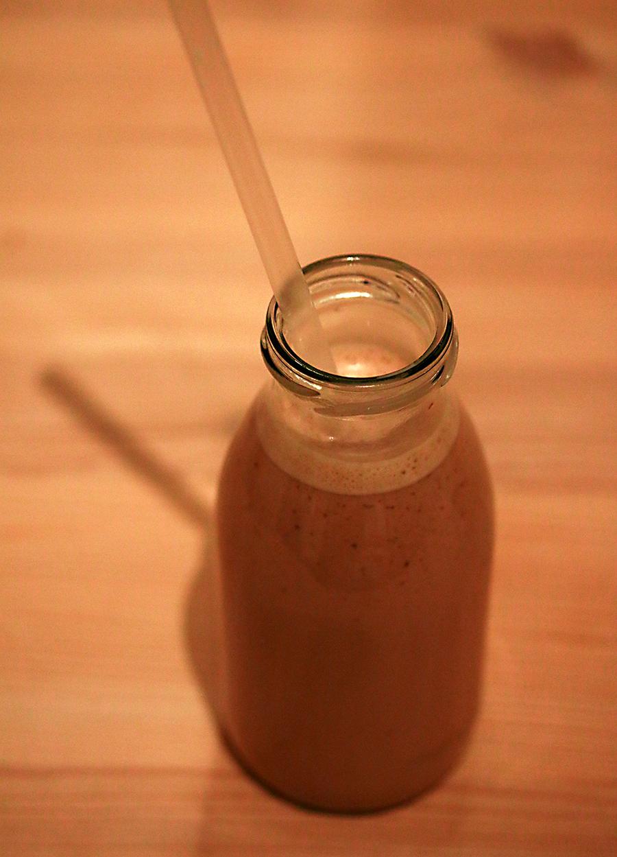 Nutellamilch in der Flasche
