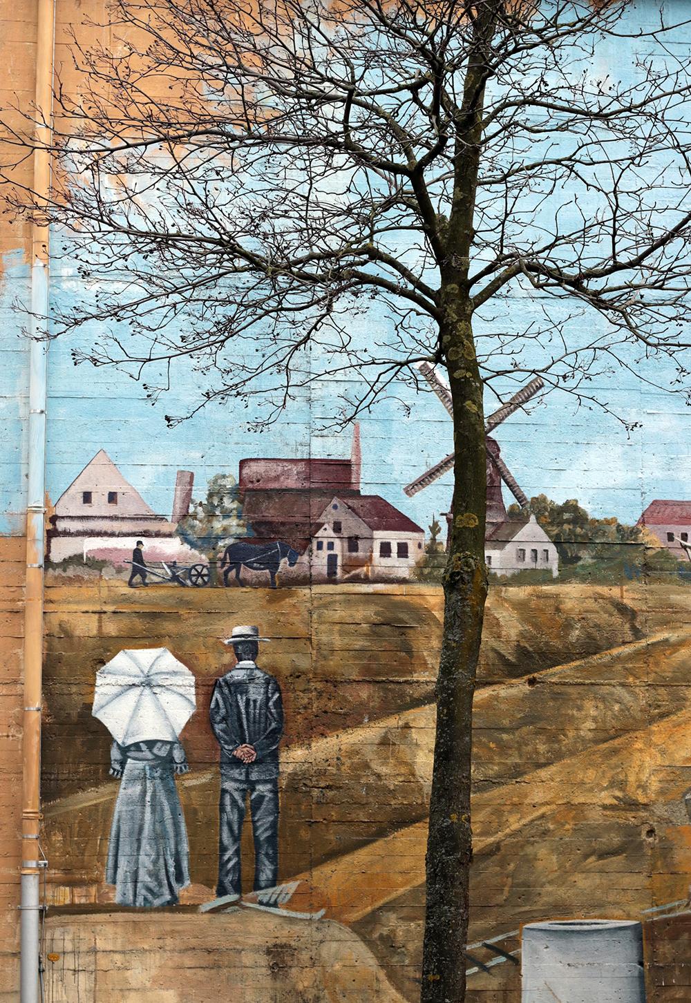 Malerei Hauswand