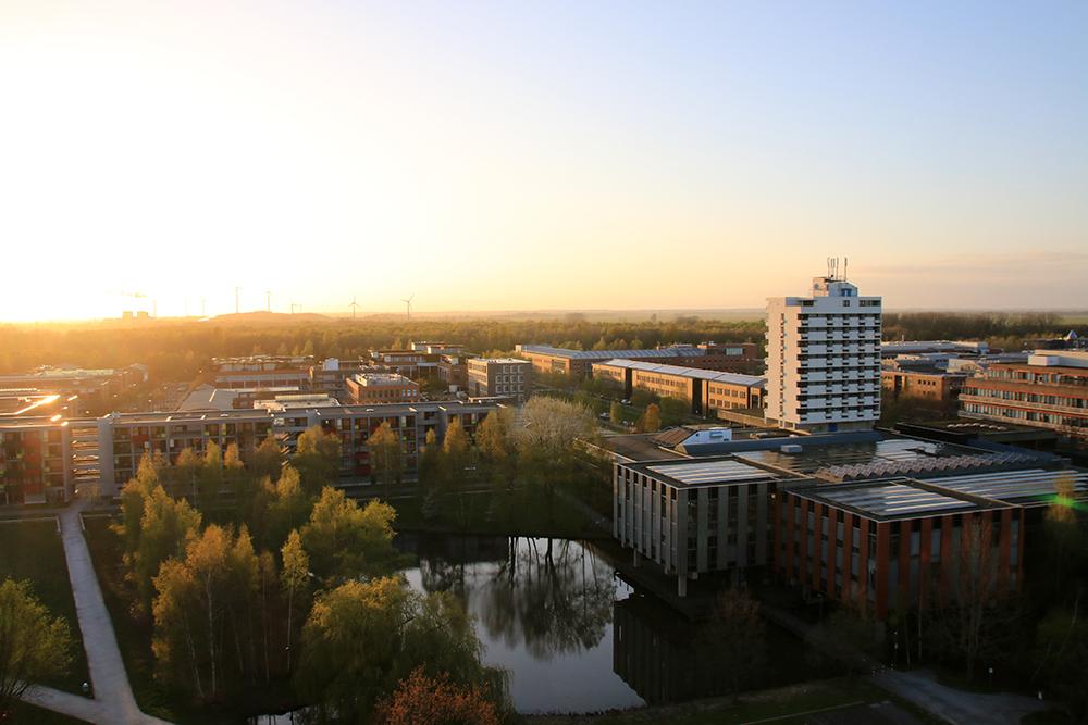 Sonnenuntergang Bremen Unigelände