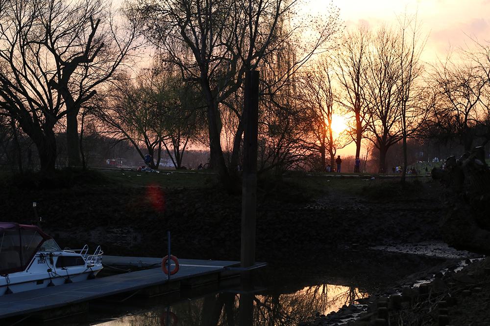 Sonnenuntergang Osterdeich Bremen