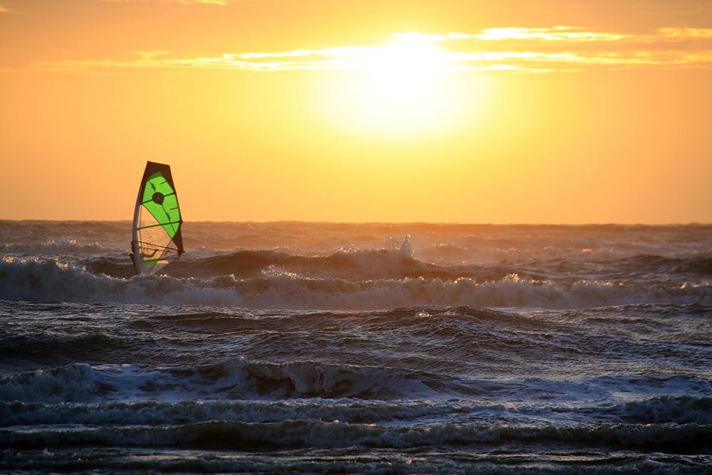 Sonnenuntergang Noordwijk Beach