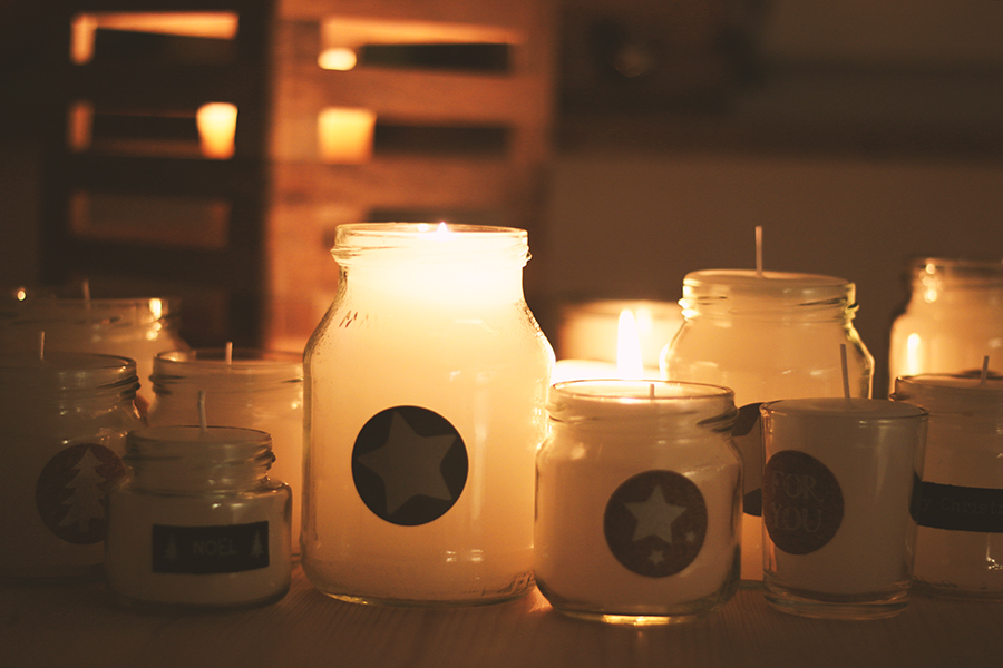 selbstgemachte Kerzen