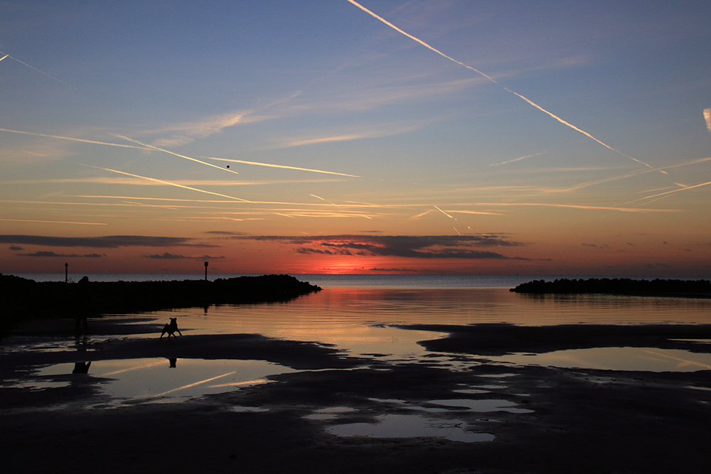 Makkum Beach Sonnenuntergang